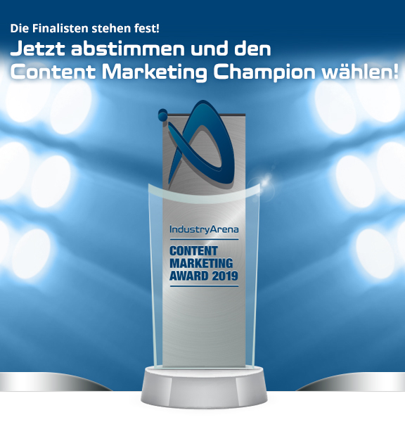 IndustryArena Content Marketing Award 2019