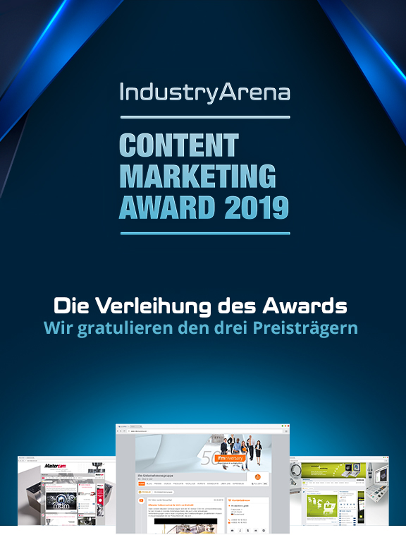 Wir gratulieren den drei Content Marketing Preisträgern 2019