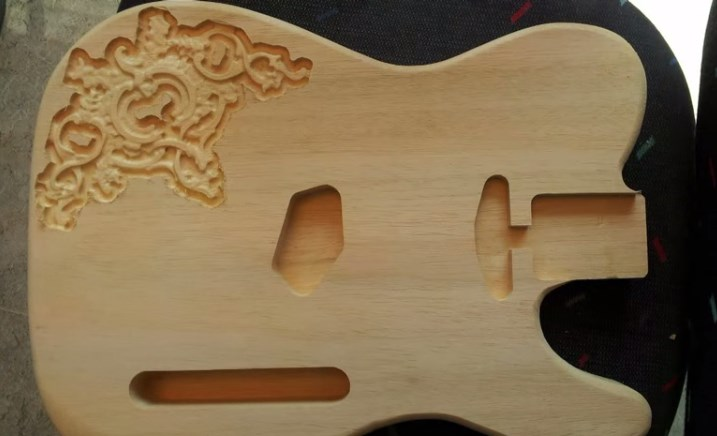 Holzbearbeitung Individuelle Gitarre Bauen Frasen