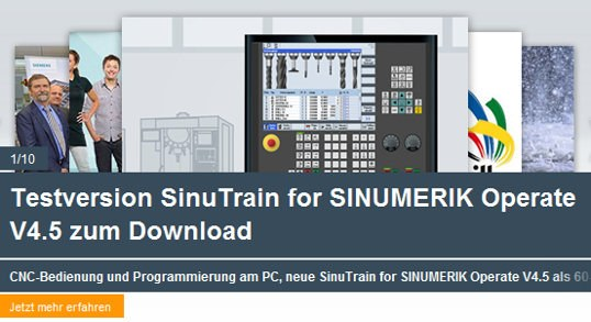 Testversion SinuTrain for SINUMERIK Operate V4.5 zum Download